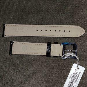 Michele Accessories - NWT 18mm Black Michele Lizard 🦎 Watch Strap